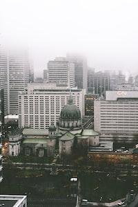 cloudy sky in the city