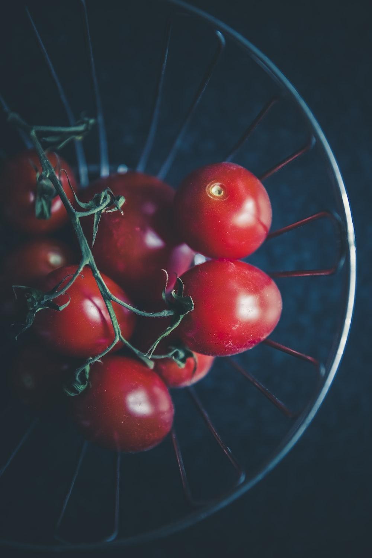 tomato cherry on bowl
