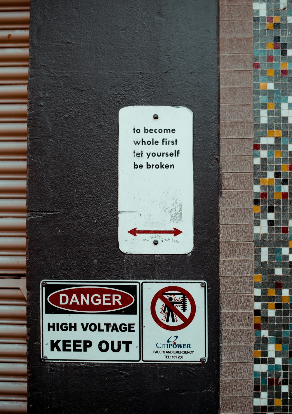 danger high voltage keep out signage