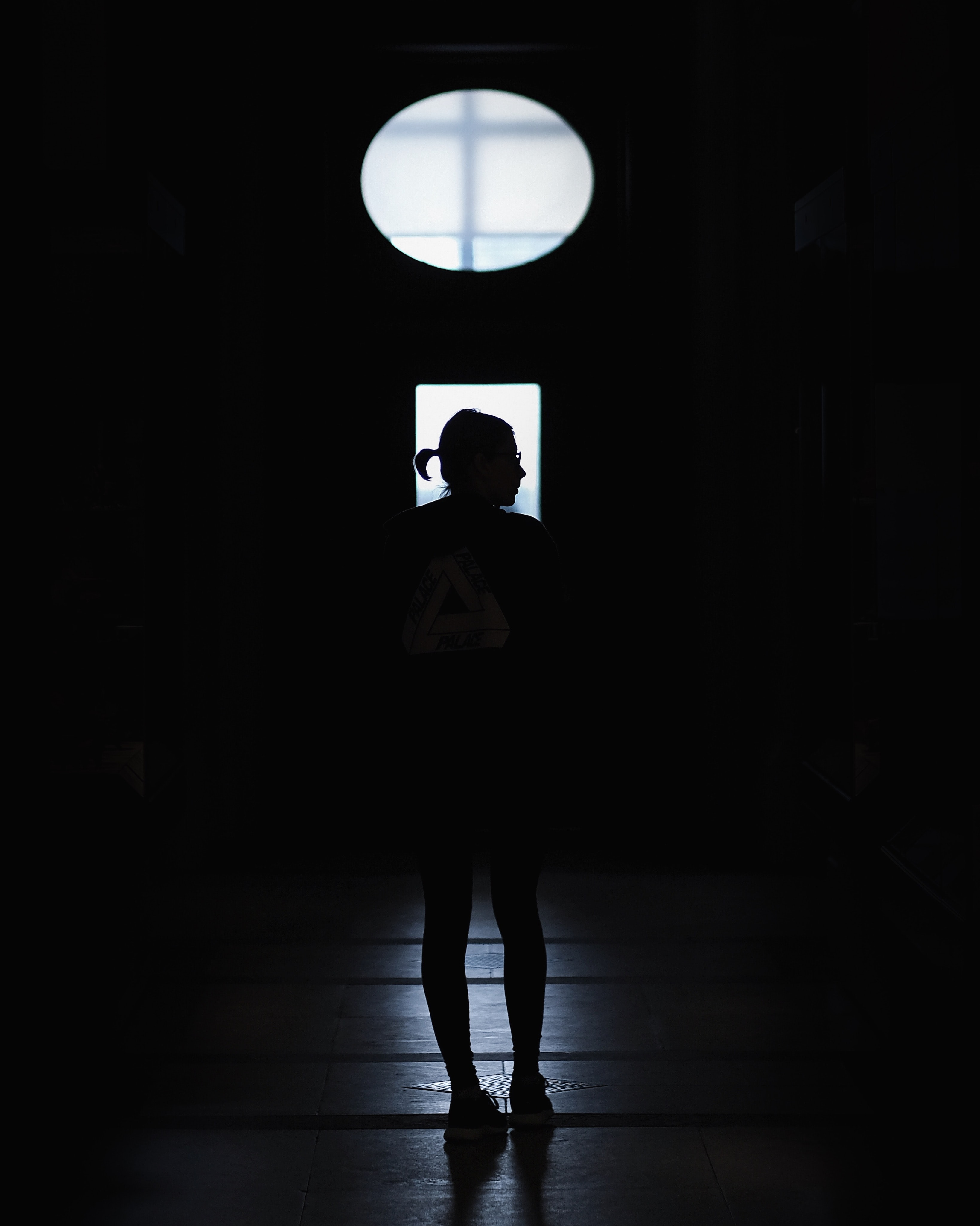 silhouette of a standing person