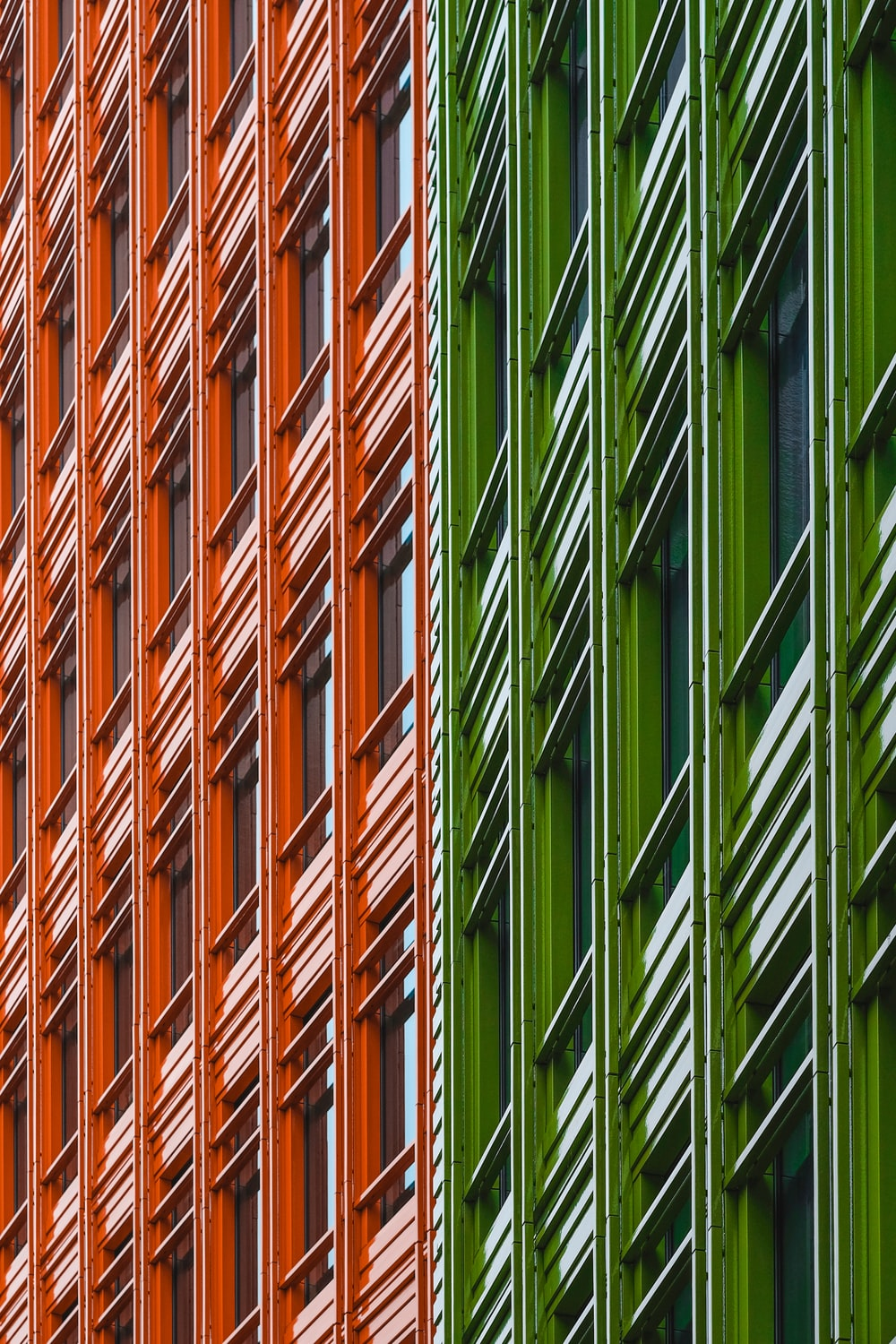 green and red architectural structure