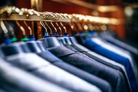selective focus photography of suit jackets