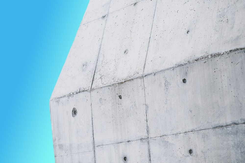 Interesting modern textured art sculpture with bright blue background, Akron Art Museum