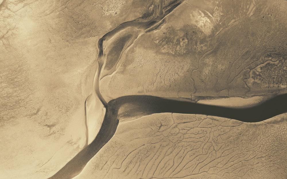 brown desert on top view
