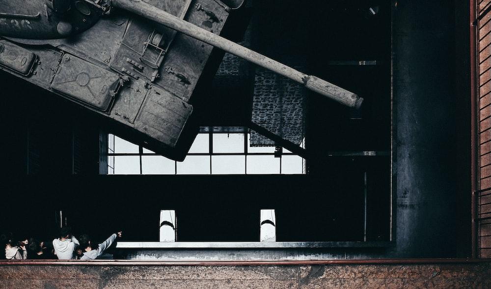 photo of tank hanging