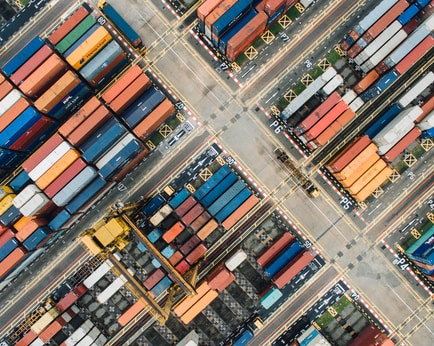 bird's photo of shipping containers