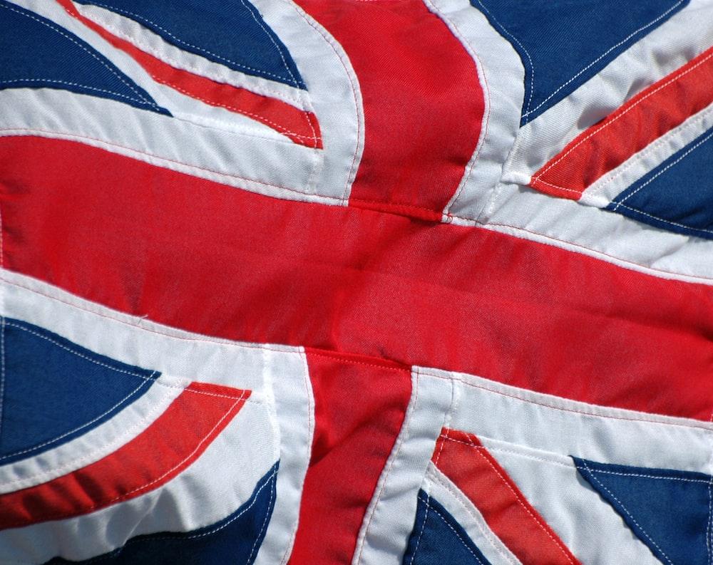 Stitching details on the UK flag