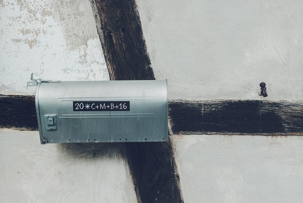 gray steel mailbox