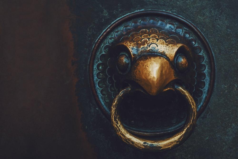 gold eagle door knocker