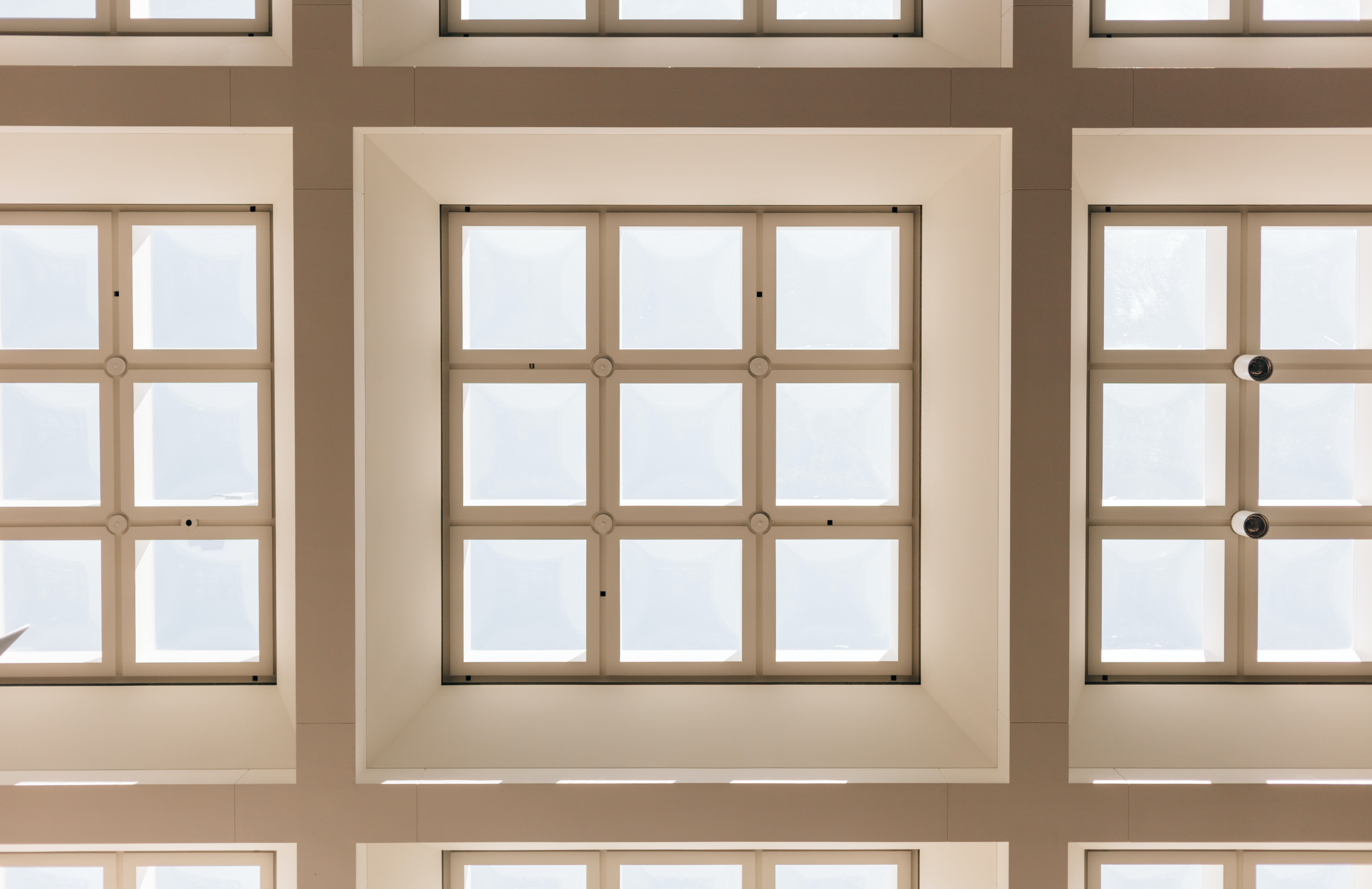 The ceiling and skylights at Hart Senate Office Building
