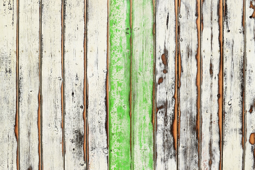 white and green wood planks