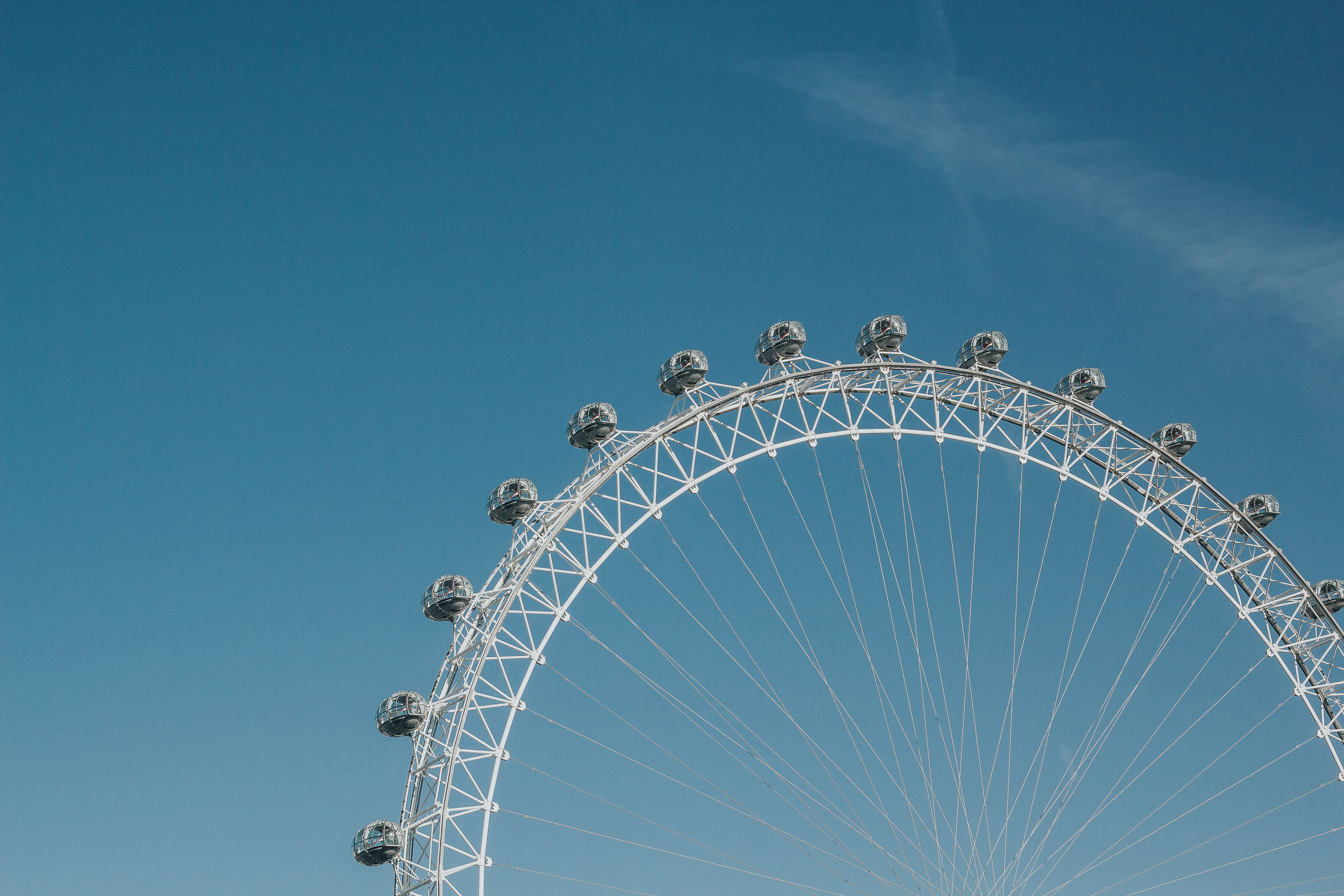 gray ferris wheel during day time