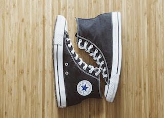pair of black Converse All-Star high-top