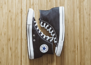 pair of black Converse All-Star high-top