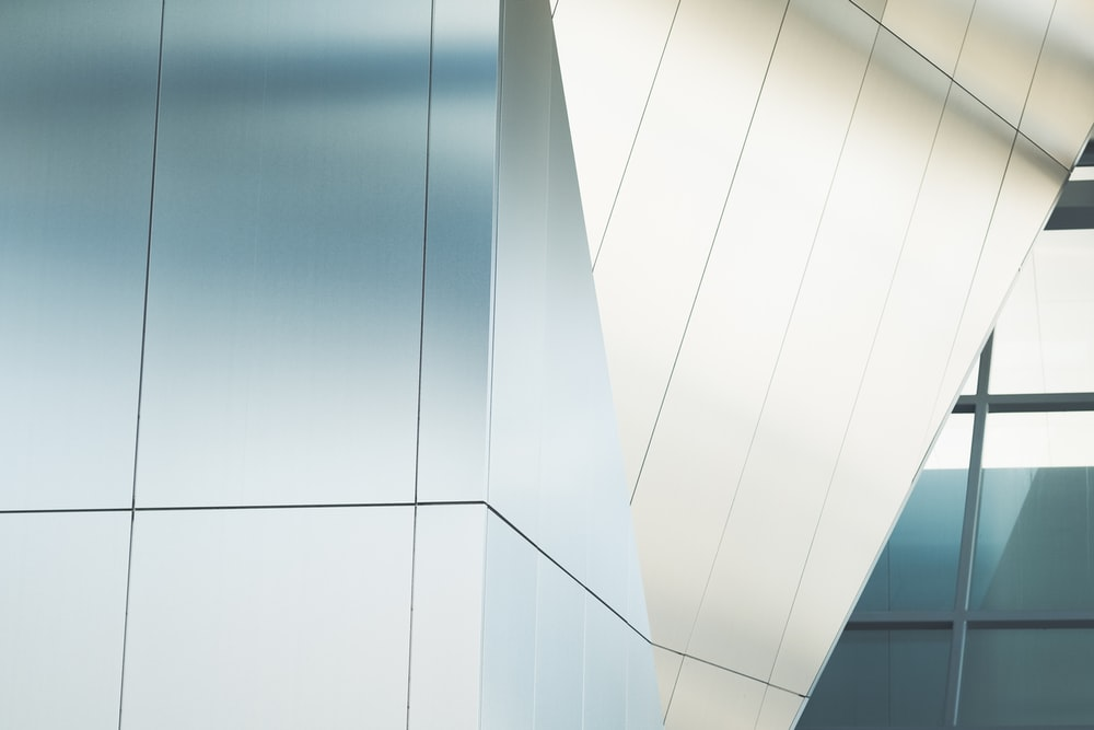 close up photo of curtain wall building