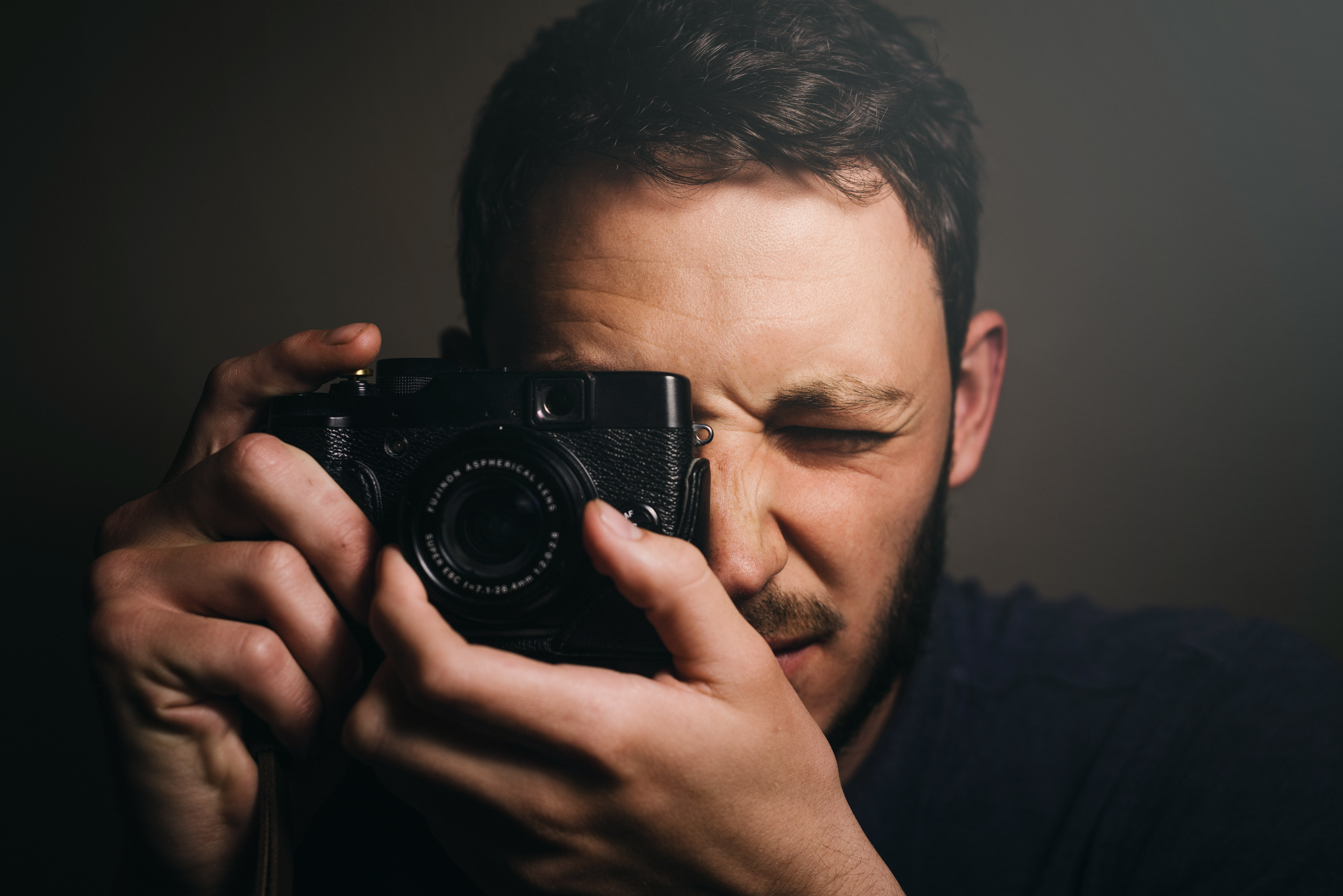 A man taking a photo with a camera