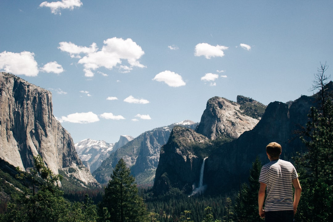 My friend and I took a detour on the way home from college and visited Yosemite. I grabbed this great shot of him admiring the view as we took a hard and fast tour of the gorgeous valley before jumping back on the road.