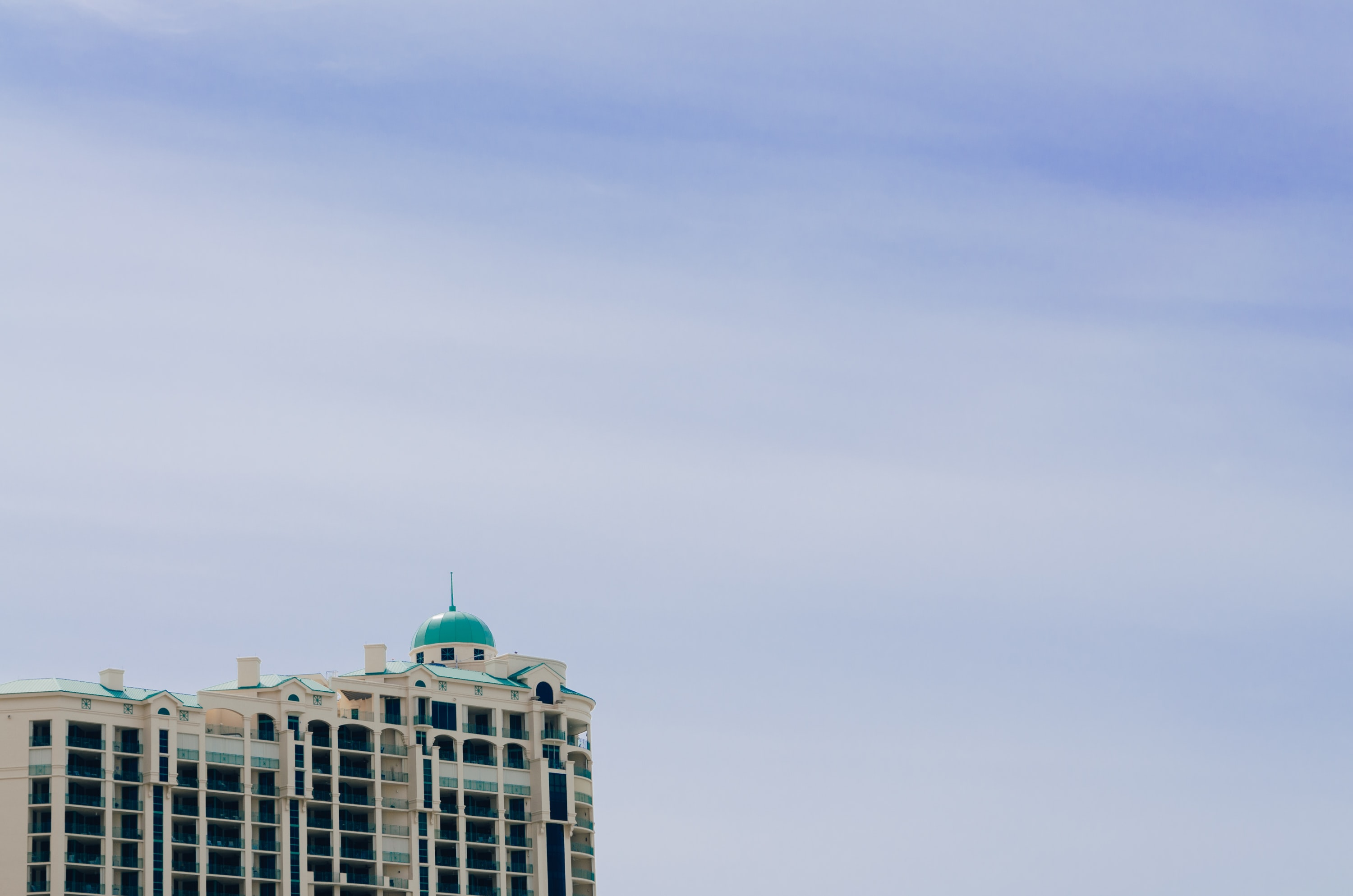 landscape photography of high rise building