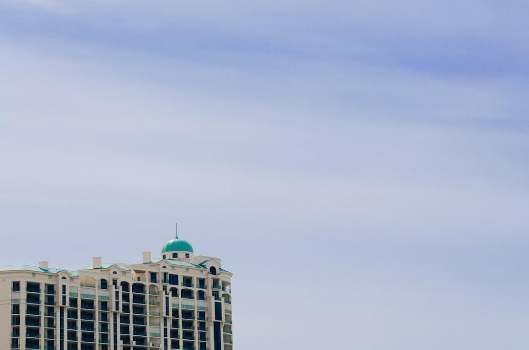 Against the blue sky