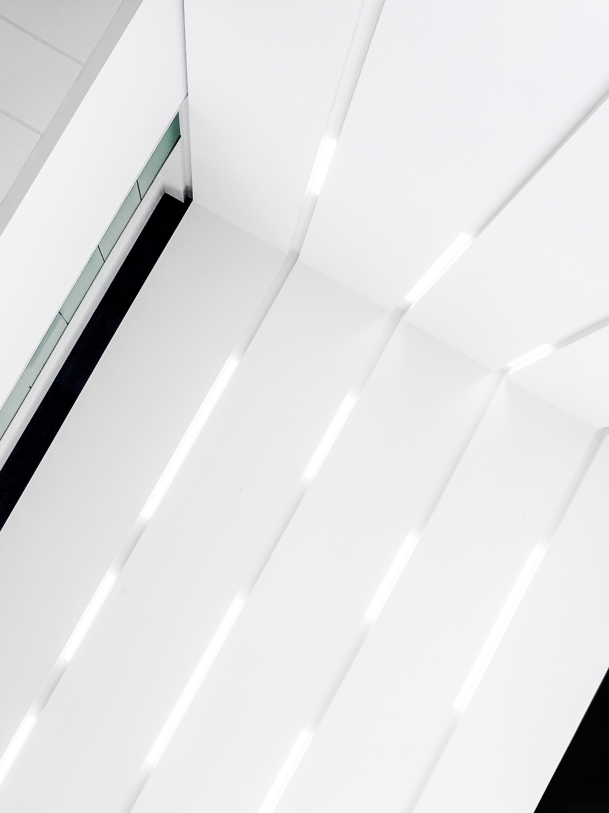 Grooves in a white facade