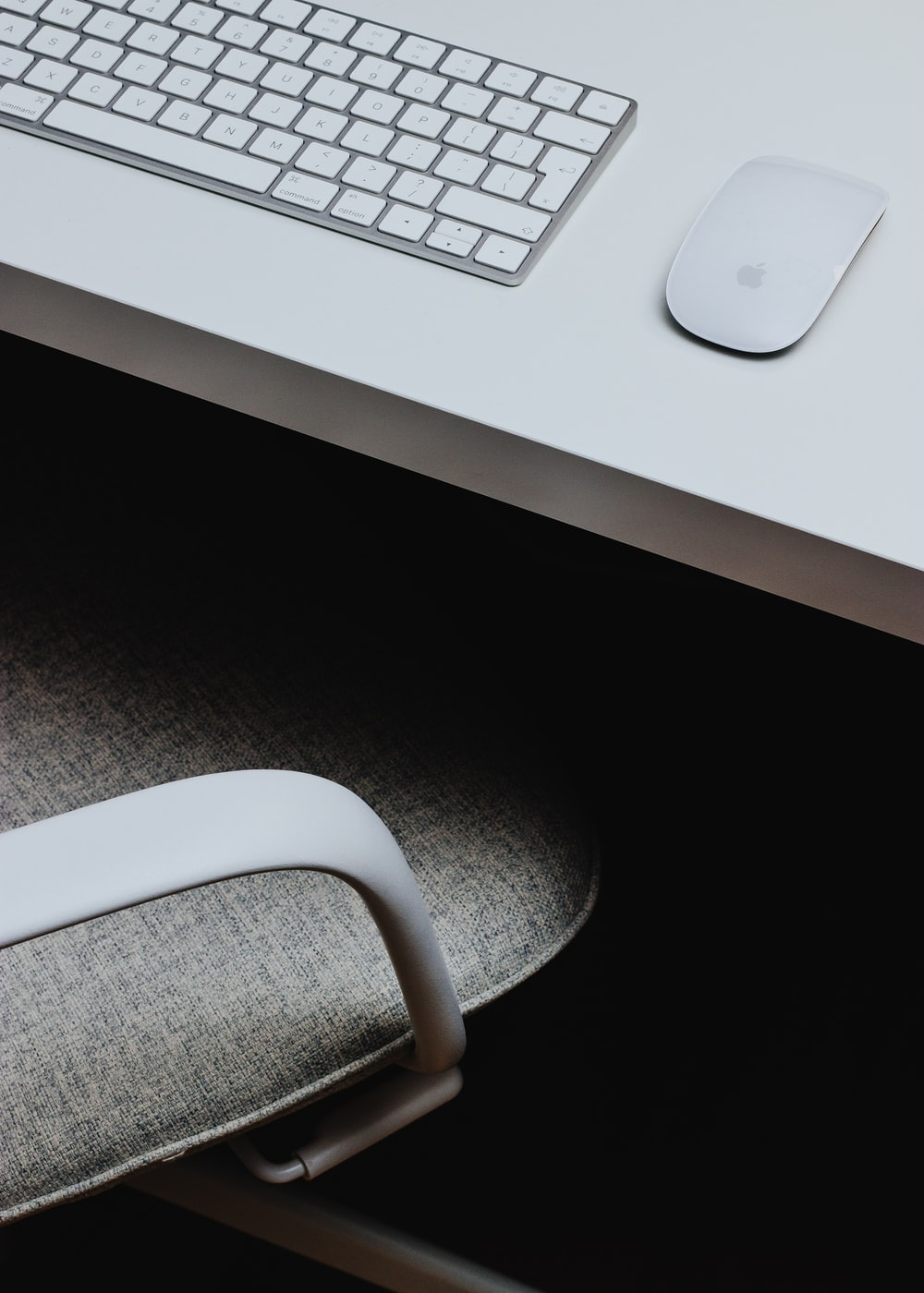 Magic Mouse and Magic Keyboard on table