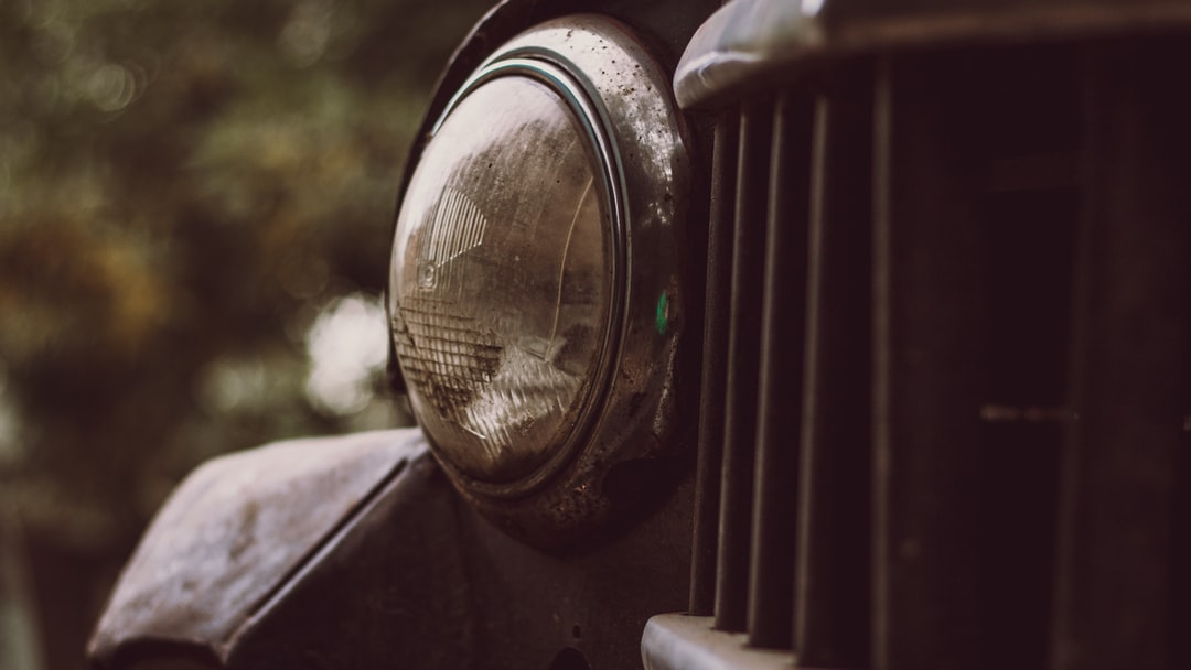 Old Car headlight
