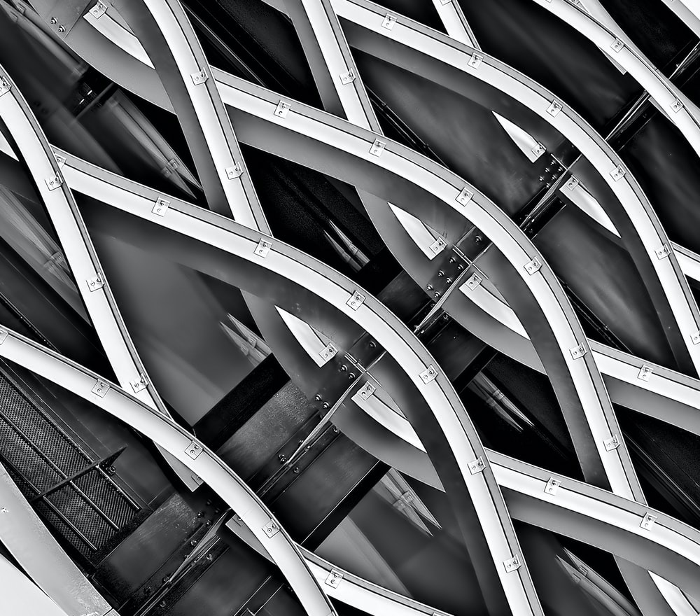 minimalist photography of spiral structure