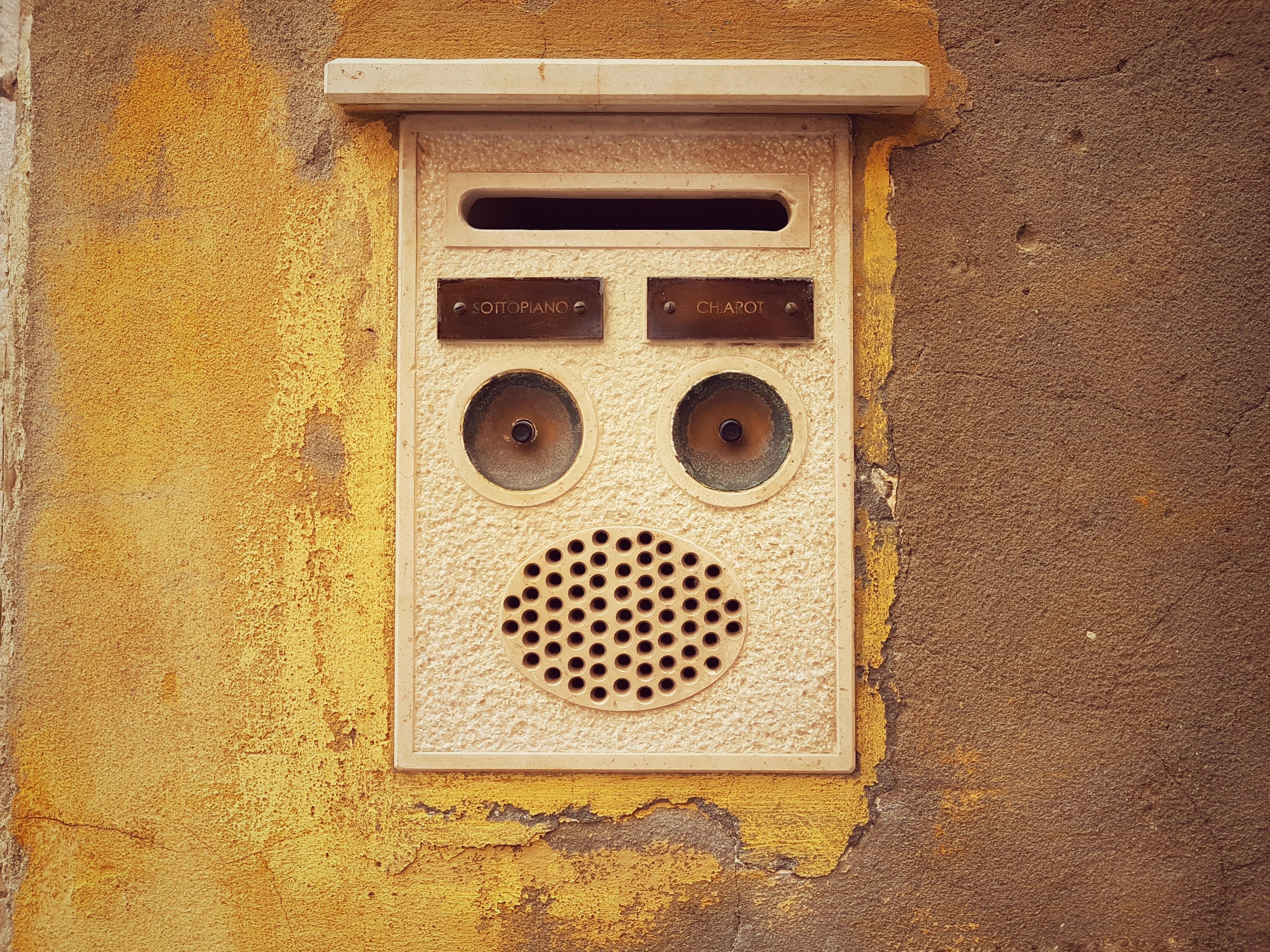 gray doorbell