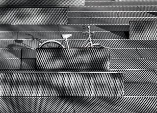 gray bicycle