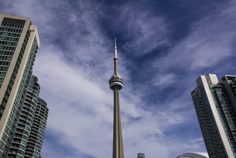 low angle photography of CN Tower, Canada