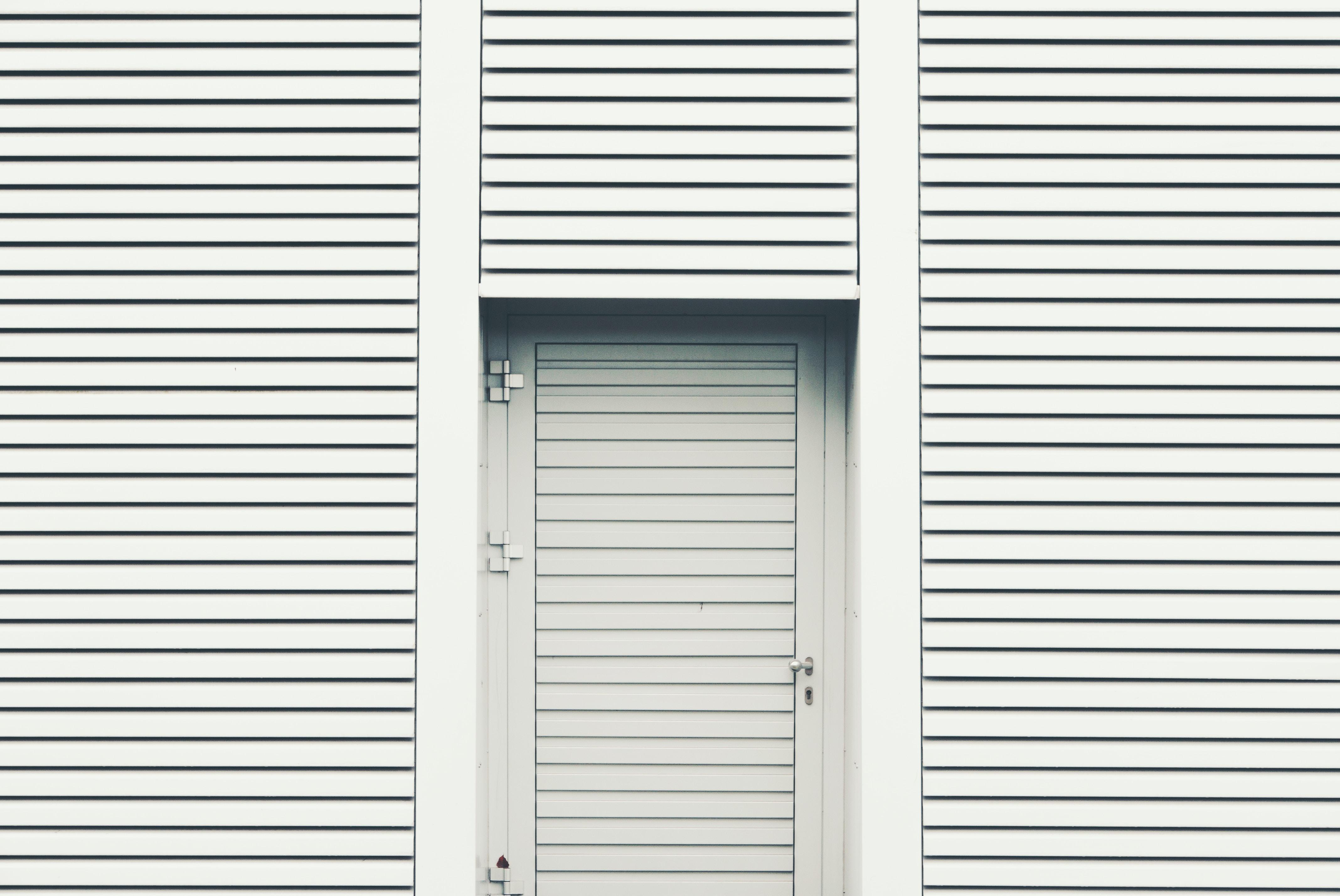closed louver door