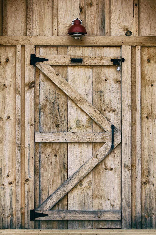 brown wood plank wall