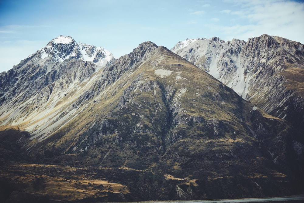 snow capped mountans