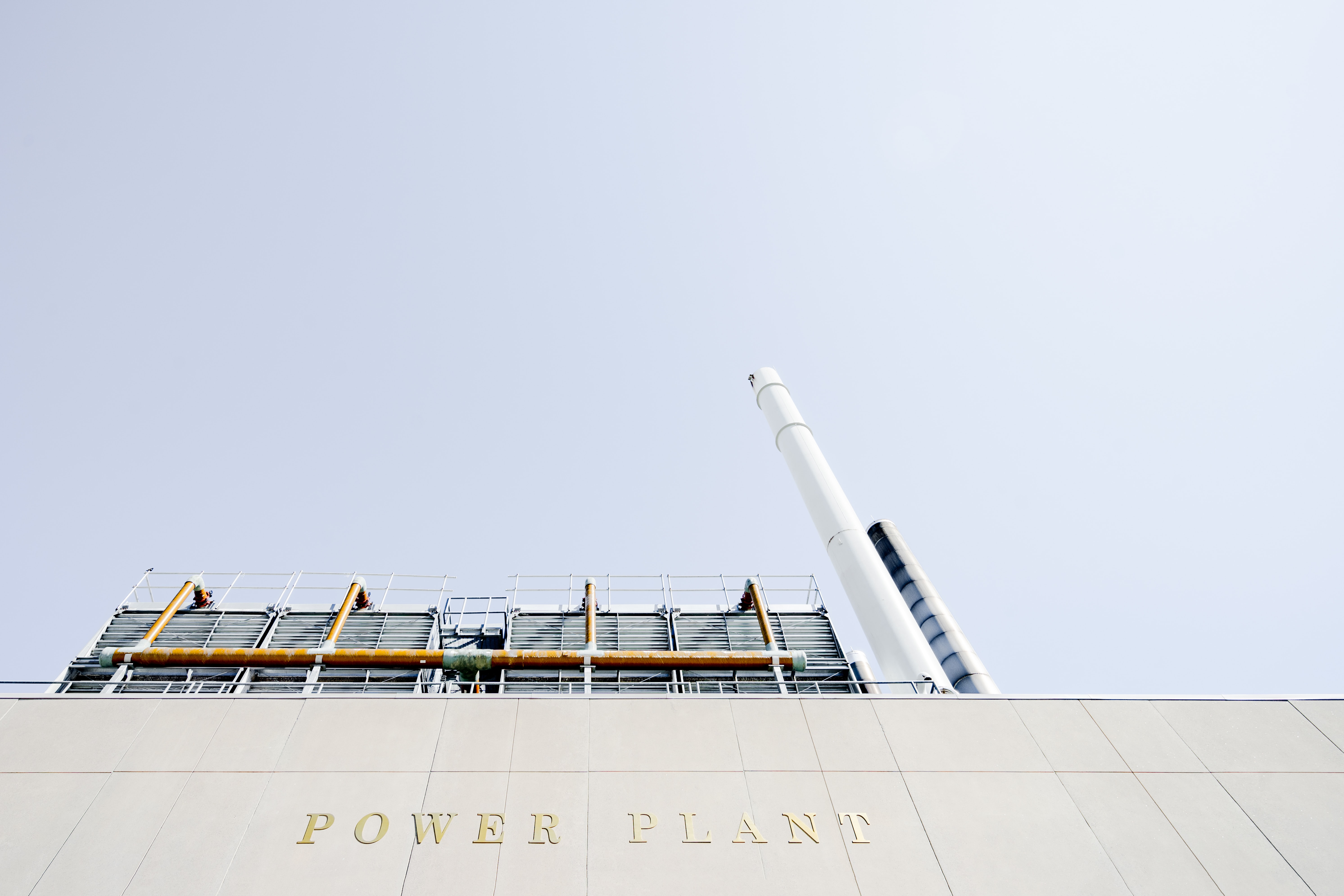 white and gray power plant