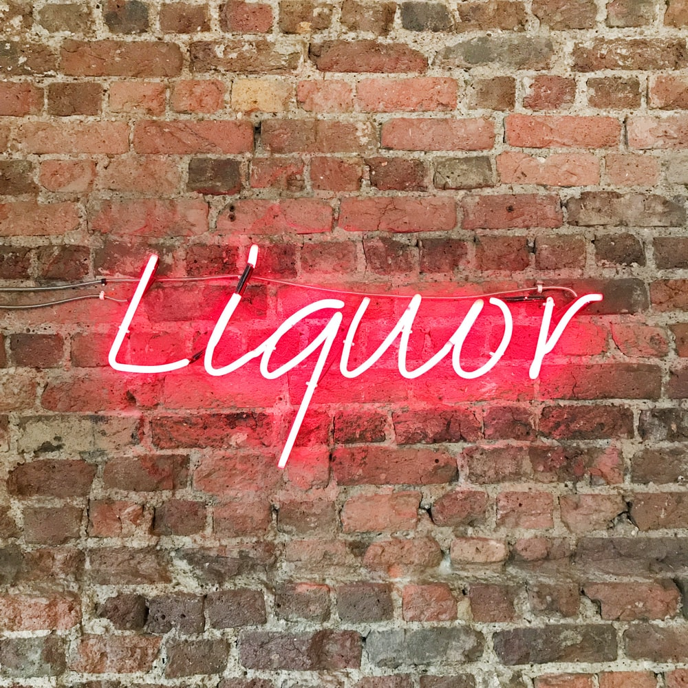 red liquor neon decor