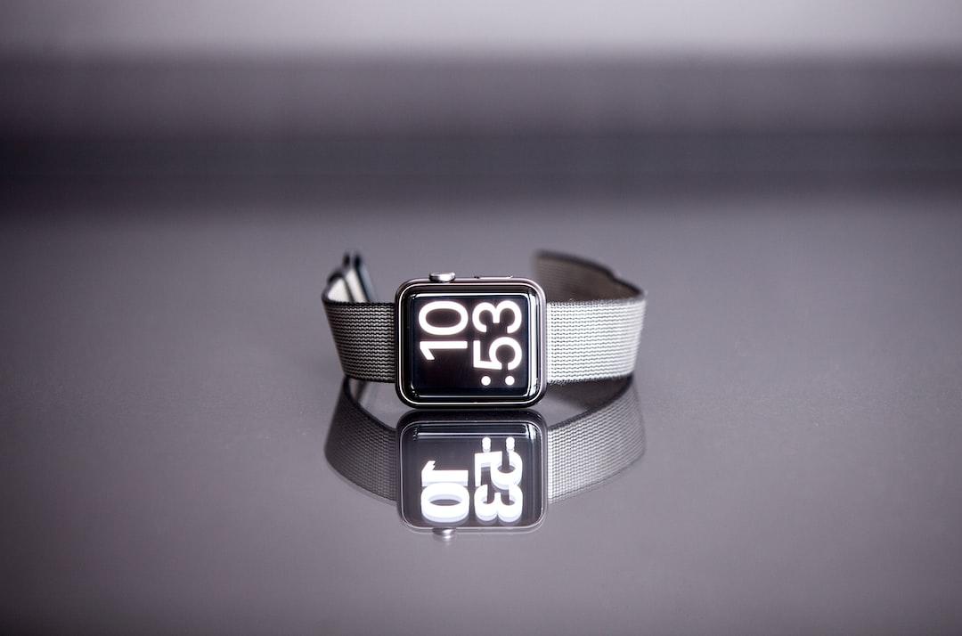 Apple watch on side