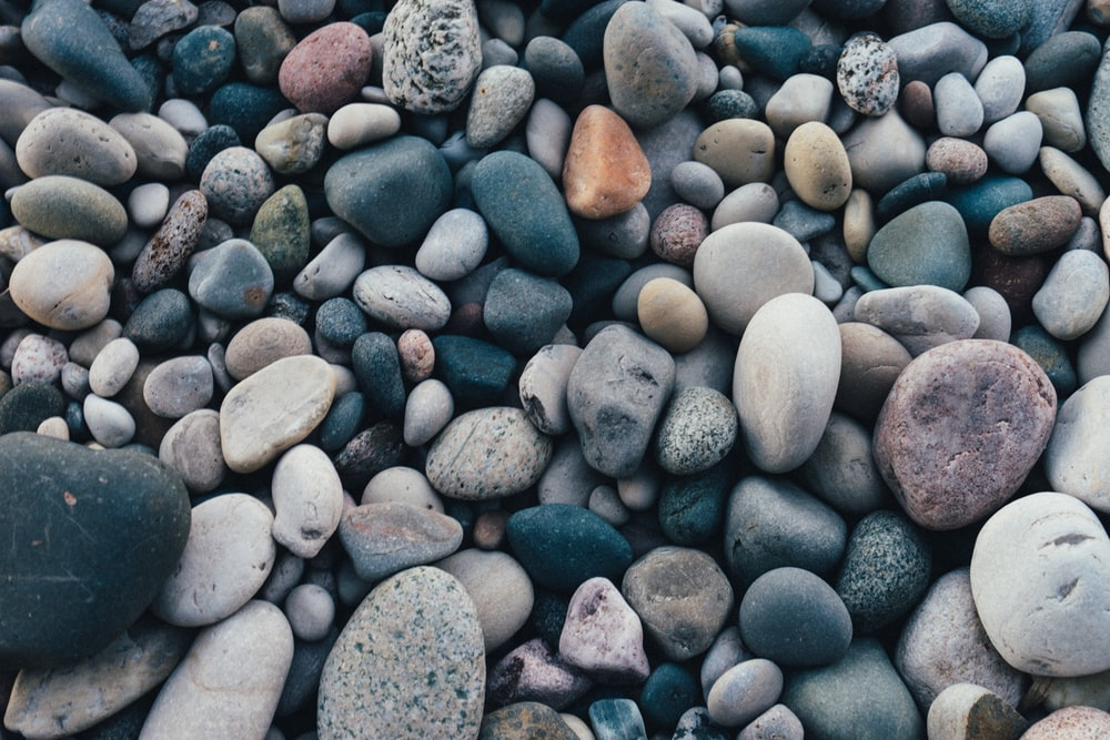 closeup photo of assorted-color stone lot