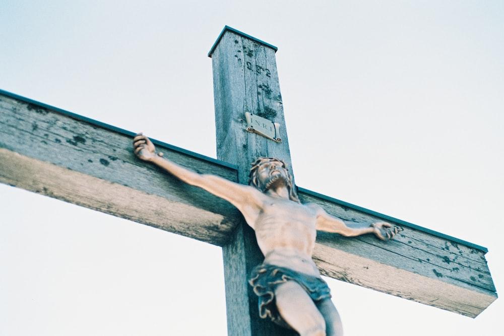 Jesus Christ on cross painting