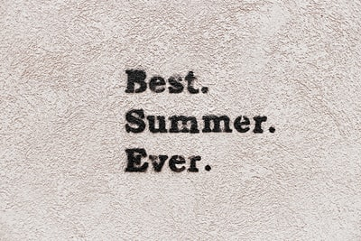best summer ever text overlay message zoom background