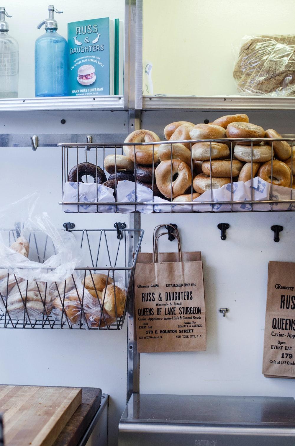 brown bread in white plastic bag