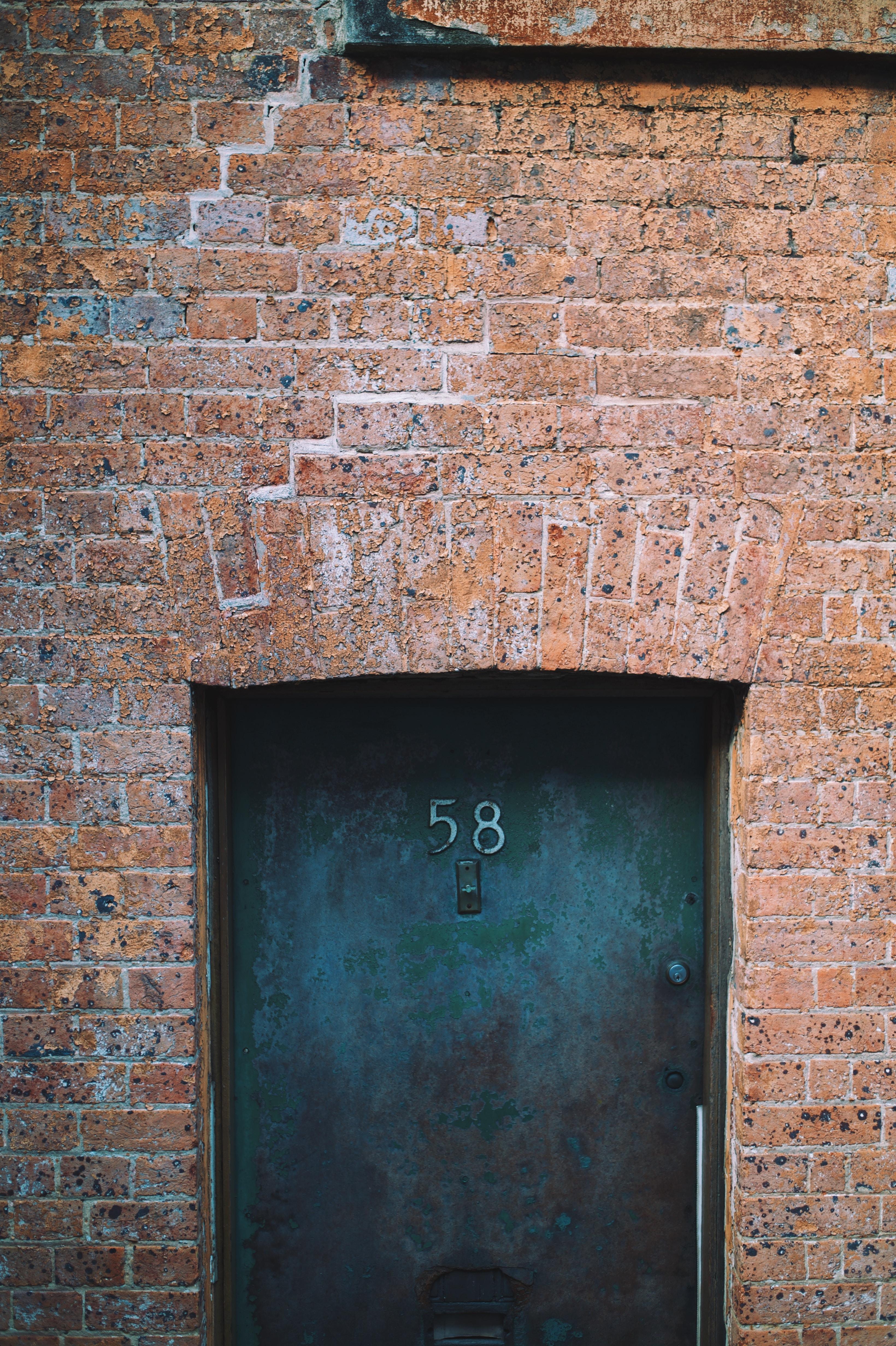 number 58 black door