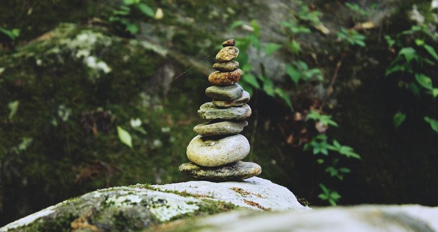balancing 4 rocks