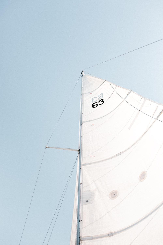 white boat sail