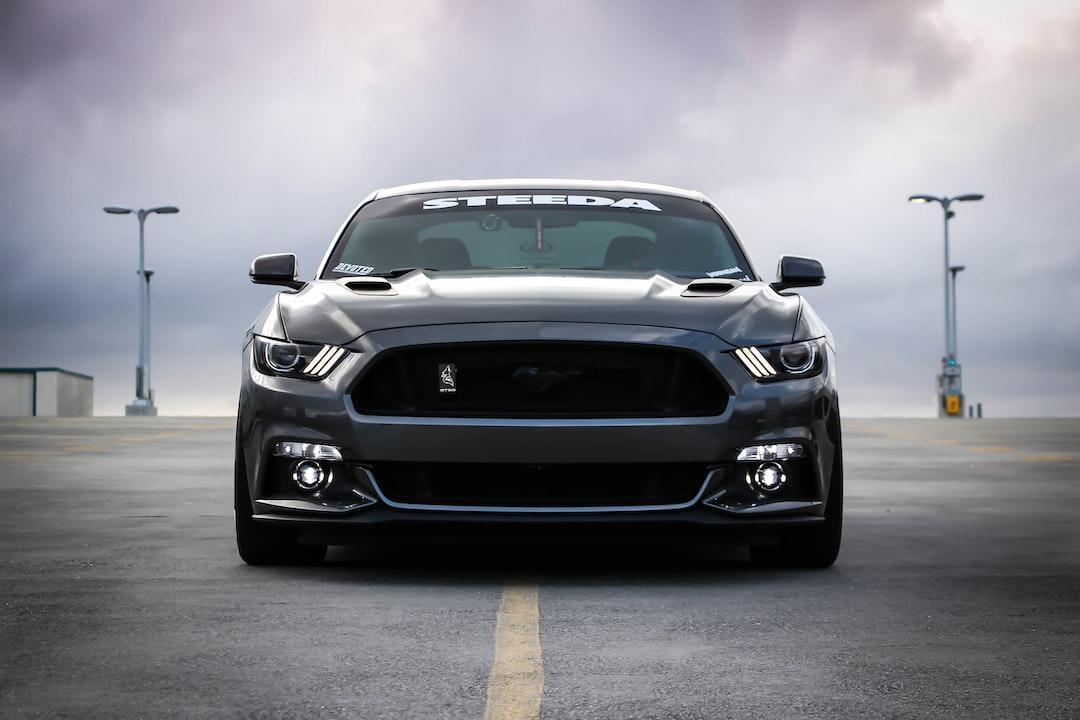 Black sports car front