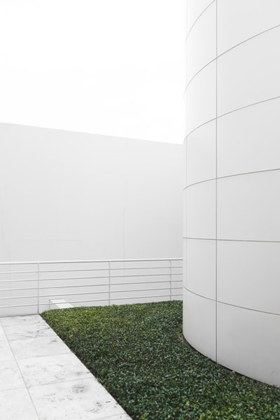 Lawn in a white building