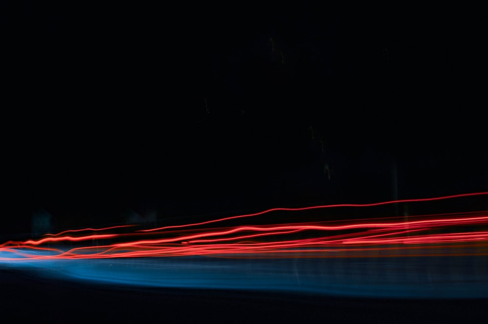 time lapse photo of red lights