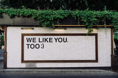 we like you too quotes on wall message zoom background