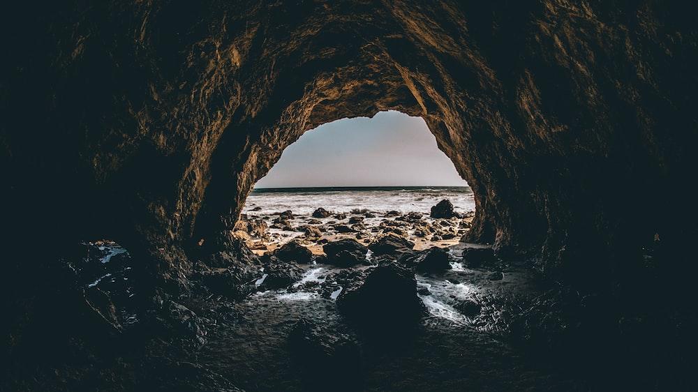 sea shore cave