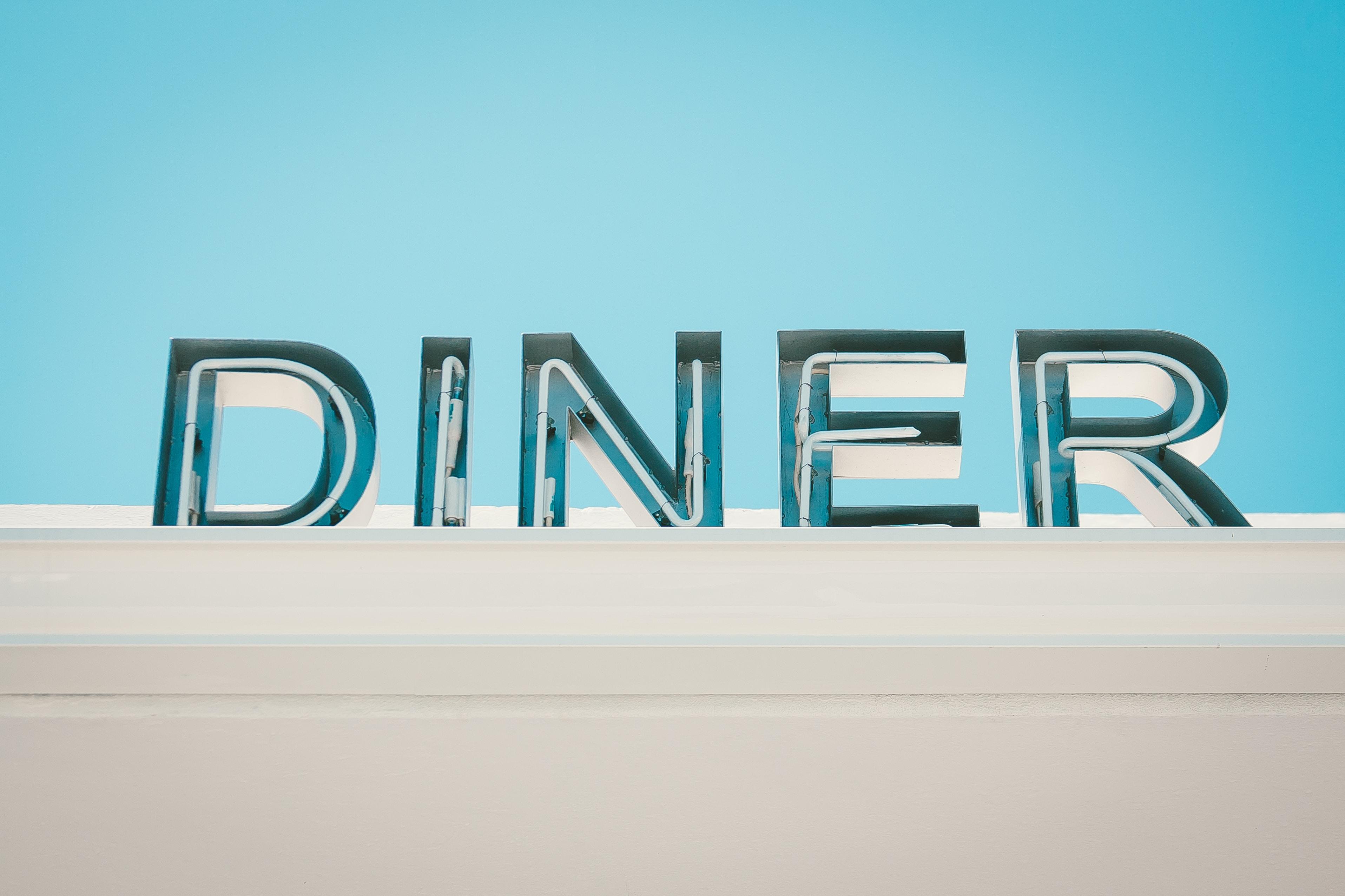 Diner signage