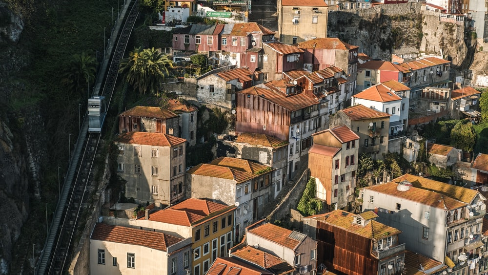 aerial view of white painted houses during daytime